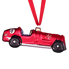Buy John Lewis Glass Retro Racing Car, Red Online at johnlewis.com
