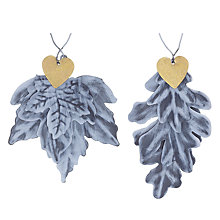 Buy John Lewis Metal Leaves Heart Decoration, Assorted Online at johnlewis.com
