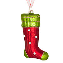 Buy John Lewis Glass Spotty Stocking Decoration, Multi Online at johnlewis.com