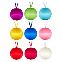 Buy John Lewis Satin Baubles, Set of 9, Multi Online at johnlewis.com