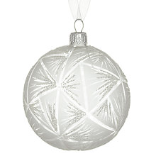 Buy John Lewis Geometric Bauble, Clear Online at johnlewis.com