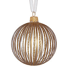 Buy John Lewis Glitter and Metallic Bauble, Gold Online at johnlewis.com