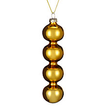 Buy John Lewis Mutli Ball Drop Decoration, Gold Online at johnlewis.com