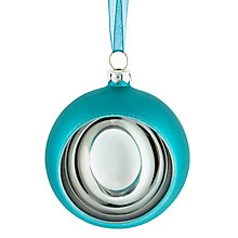 Buy House by John Lewis Reflector Bauble, Turquoise Online at johnlewis.com