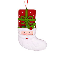 Buy John Lewis Claydough Father Christmas Stocking, Multi Online at johnlewis.com