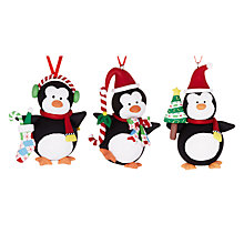 Buy John Lewis Claydough Penguins Decoration, Assorted Online at johnlewis.com