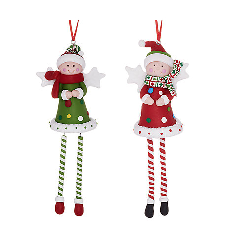 Buy John Lewis Claydough Angel Legs Decoration, Assorted Online at johnlewis.com