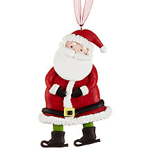 Buy John Lewis Claydough Father Christmas Decoration, Red Online at johnlewis.com