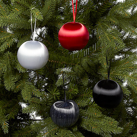 Buy John Lewis Satin Baubles, Multi, Set of 4 Online at johnlewis.com