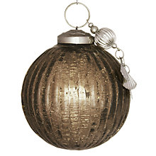 Buy John Lewis Crackle Bauble with Charm, Clay Online at johnlewis.com