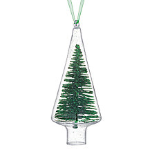 Buy House by John Lewis Glitter Tree in Glass, Green Online at johnlewis.com