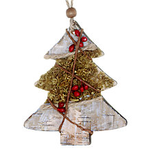 Buy John Lewis Bark Tree Berries and Moss Decoration, Multi Online at johnlewis.com