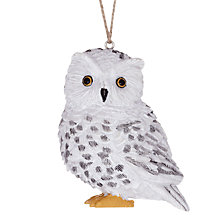 Buy John Lewis Owl Decoration, White Online at johnlewis.com