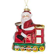 Buy John Lewis Retro Father Christmas on Train Decoration, Multi Online at johnlewis.com