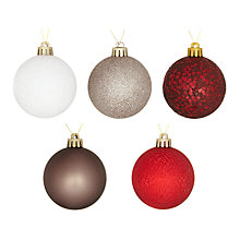 Buy John Lewis Shatterproof Baubles, Pack of 20, Multi Online at johnlewis.com