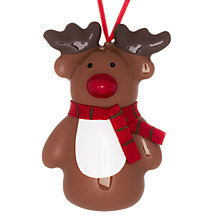 Buy John Lewis Plastic Reindeer Decoration, Brown Online at johnlewis.com