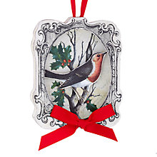 Buy John Lewis Robin in a Frame Decoration, Multi Online at johnlewis.com