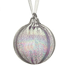 Buy John Lewis Croft Collection Iridescent Bauble, Silver Online at johnlewis.com