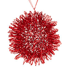 Buy House by John Lewis Wire Jagged Ball, Red Online at johnlewis.com