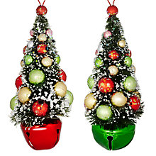 Buy John Lewis Jingle Bell Trees Decoration, Assorted Online at johnlewis.com