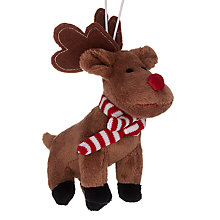 Buy John Lewis Soft Reindeer Decoration, Brown Online at johnlewis.com