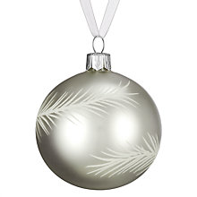 Buy John Lewis Croft Collection Bauble with Feathers, Silver/White Online at johnlewis.com