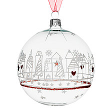 Buy John Lewis Skyline Bauble, Clear Online at johnlewis.com