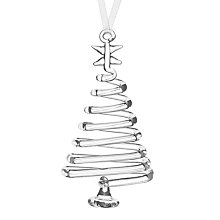 Buy John Lewis Christmas Glass Spiral Trees, Set of 3 Online at johnlewis.com