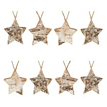 Buy John Lewis Bark Star Christmas Decoration, Pack of 8, Natural Online at johnlewis.com
