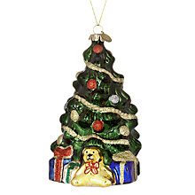 Buy John Lewis Glass Retro Christmas Tree Decoration Online at johnlewis.com