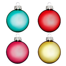 Buy John Lewis Glass Baubles, Tub of 20 Online at johnlewis.com