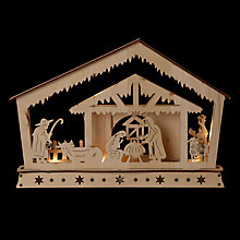Buy John Lewis Pre Lit Nativity Scene, Natural Online at johnlewis.com