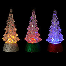 Buy John Lewis Colour Changing Tree Decoration, Mini, Assorted Online at johnlewis.com