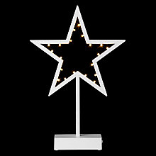 Buy John Lewis Pre-lit Star LED Light, Warm White Online at johnlewis.com