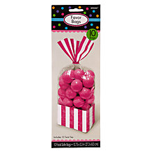Buy Amscan Rectangular Party Bags, Pack of 10 Online at johnlewis.com