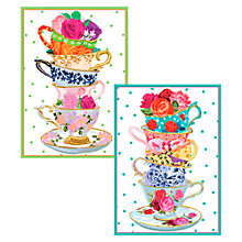 Buy Caspari Ltd Teacups Notecards, Set of 8 Online at johnlewis.com