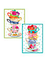 Caspari Teacups Notecards, Set of 8