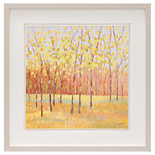 Buy Libby Smart - Yellow and Green Trees Framed Print, 43 x 43cm Online at johnlewis.com