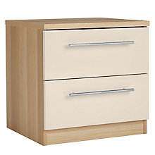 Buy House by John Lewis Mix it T-Bar Handle 2 Drawer Bedside Chest, House Putty/Natural Oak Online at johnlewis.com