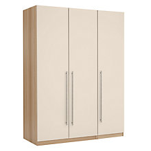 Buy House by John Lewis Mix it T-Bar Handle Triple Wardrobe, House Putty/Natural Oak Online at johnlewis.com