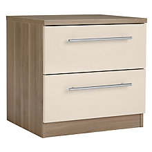 Buy House by John Lewis Mix it T-Bar Handle 2 Drawer Bedside Chest, House Putty/Grey Ash Online at johnlewis.com