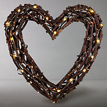 Buy John Lewis LED Twiggy Heart Online at johnlewis.com