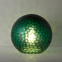 Buy John Lewis Ophira Glass Globe Table Lamp, Teal Online at johnlewis.com