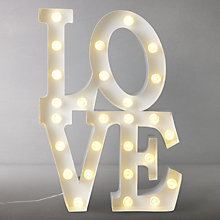 Buy John Lewis Love Lit Sign, White Online at johnlewis.com