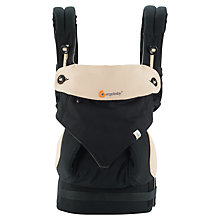 Buy Ergobaby Four Position 360 Baby Carrier, Black/Camel Online at johnlewis.com