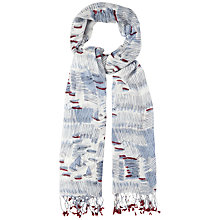 Buy White Stuff Boat Print Scarf, Multi Online at johnlewis.com