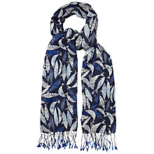 Buy White Stuff Koi Print Scarf, Blue Online at johnlewis.com