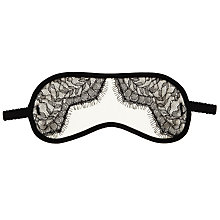 Buy Somerset by Alice Temperley Alice Lace Eye Mask, Black / Cream Online at johnlewis.com