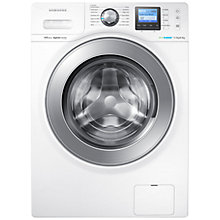 Buy Samsung WD12F9C9U4W Washer Dryer, 12kg Wash/8kg Dry load, 1400rpm Spin, White Online at johnlewis.com
