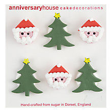 Buy Creative Party Santa and Christmas Trees Sugar Toppers Online at johnlewis.com